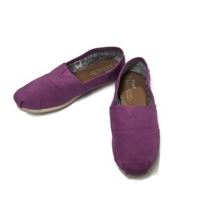 TOMS Classic Dahlia Purple Canvas Slip On Size 7.5